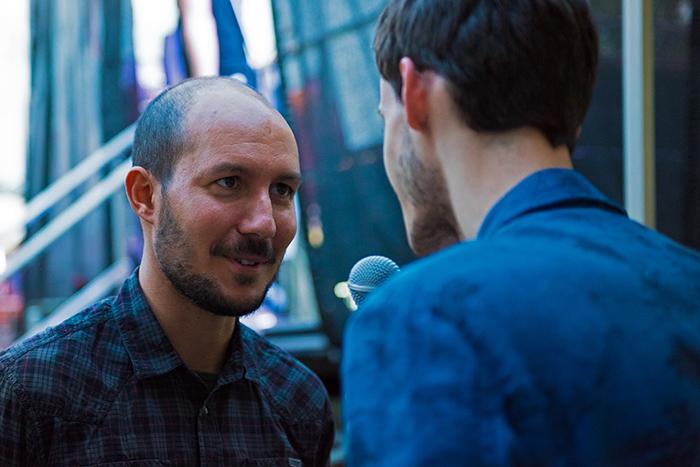 l'italo-touareg Faris Amine à l'interview pour leMultimedia.info. © Oreste Di Cristino