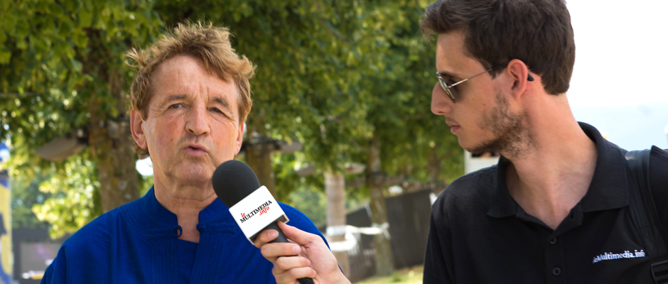 Daniel Rossellat, syndic de Nyon et fondateur du Paléo Festival, en interview avec leMultimedia.info. Photo: Oreste Di Cristino