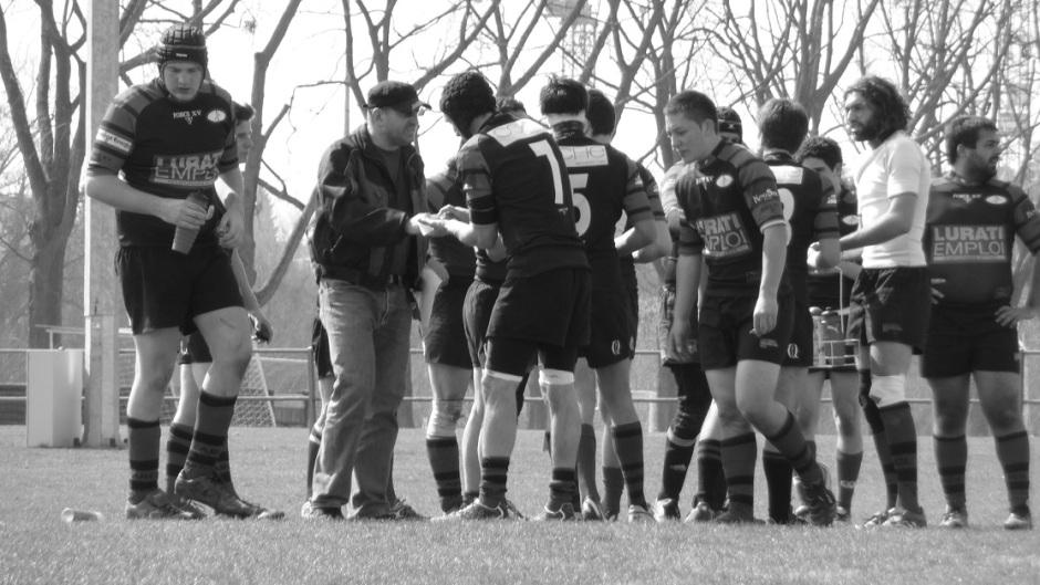 Les joueurs de Lausanne Albaladejo lors d'un match. Crédit photo: Albaladejo Rugby Club