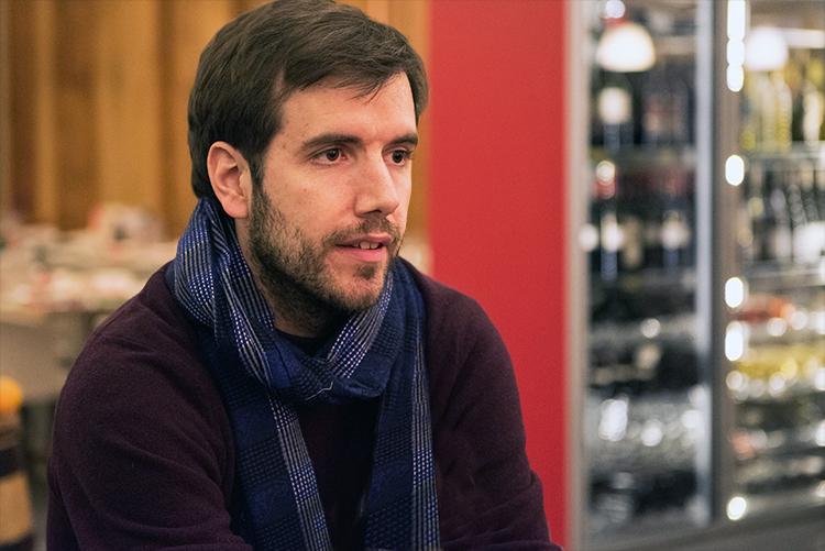 Antoine Villoutreix en interview. © Oreste Di Cristino