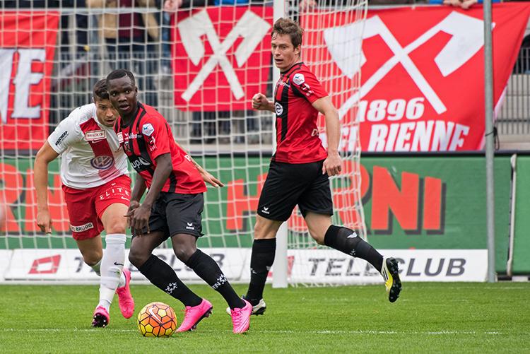 Chadrac Akolo s'est illustré en tant que meneur de jeu. Deux buts marqués et un pari gagné. © Oreste Di Cristino