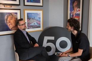 Mathieu Jaton à l'interview avec Yves Di Cristino de leMultimedia.info. Photo: Oreste Di Cristino