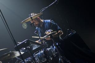 Magnus Skylstad, batteur d'Aurora, sur la scène du Montreux Jazz Lab. © Oreste Di Cristino