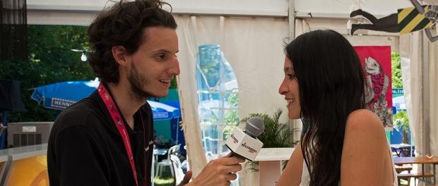 Amaryllis Blanchard en interview avec leMultimedia.info sous la tente de presse du Paléo Festival. © Oreste Di Cristino
