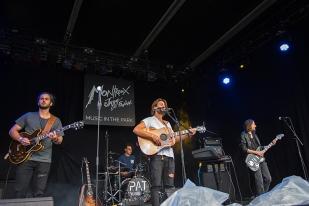 Pat Burgener Band sur la scène du Parc de Vernex à Montreux. © Oreste Di Cristino