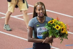 Dalilah Muhammad a remporté les 400 mètres haies à Lausanne, quelques jours après sa médaille d'or aux JO de Rio. © Oreste Di Cristino