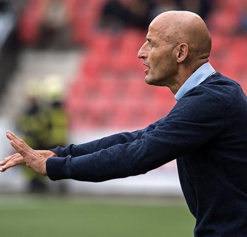Peter Zeidler, entraîneur du FC Sion, reconnaît les nombreuses qualités de Neuchâtel Xamax FCS. © Oreste Di Cristino