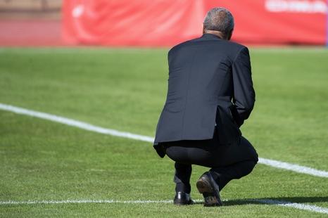 Andrea Manzo, entraîneur du FC Lugano, a mal débuté le second tour de championnat au Stade de la Pontaise. © Oreste Di Cristino