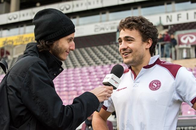 Louis Baudouin satisfait au terme de la rencontre dimanche au Stade de Genève. © Oreste Di Cristino