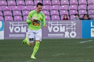 Steven Lang, prêté à Schaffhouse par le FC Saint-Gall, a inscrit son deuxième doublé en deux matches en Challenge League. © Oreste Di Cristino / leMultimedia.info