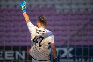 Mateo Matic, autre renfort de l'intersaison, prêté par Grasshopper jusqu'au terme de la saison, a eu forte affaire au Stade de Genève. © Oreste Di Cristino / leMultimedia.info