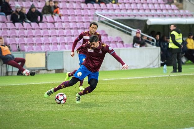 Matias Vitkieviez a abondamment animé le jeu offensif du Servette FC. Il s'est également porté auteur de la passe décisive à Anthony Sauthier (65e). © Oreste Di Cristino / leMultimedia.info