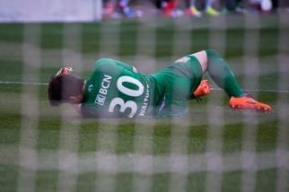 Laurent Walthert a été quelque peu décisif au Stade de Genève. Mais il n'a rien pu faire contre l'« auténtico golazo » de Christopher Mfuyi. © Oreste Di Cristino / leMultimedia.info
