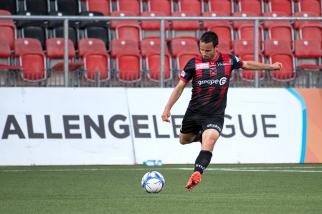 Raphaël Nuzzolo a inscrit un doublé pour sa 31e rencontre de la saison avec Neuchâtel Xamax FCS. © Oreste Di Cristino / leMultimedia.info