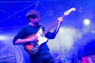 Pierre-Henri Beyrière, bassiste du trio au Blues Rules Crissier Festival. © Oreste Di Cristino / leMultimedia.info