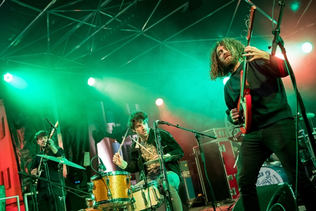 Le trio se produit, ici, sur la scène du Blues Rules Crissier Festival, le 19 mai 2017. © Oreste Di Cristino / leMultimedia.info