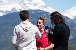 Interview à Christa Herrmann, présidente de la comission féminine de rugby suisse. © Oreste Di Cristino / leMultimedia.info