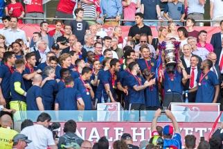Avec le 20e titre de champion de Suisse en Super League, les Rhénans ont validé un nouveau doublé en 2017. © Oreste Di Cristino / leMultimedia.info
