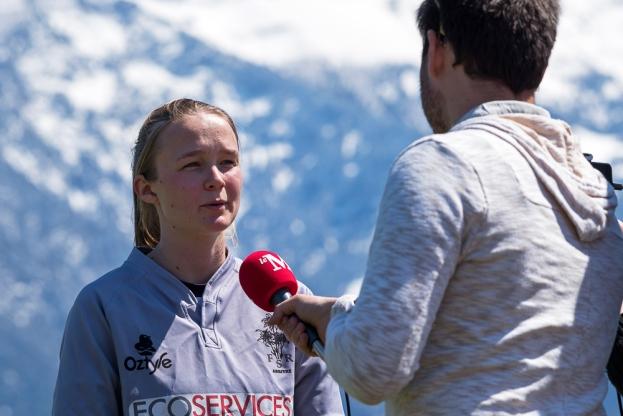 Interview avec Viola Jackman, joueuse et arbitre de rugby. © Oreste Di Cristino / leMultimedia.info