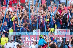 Le FC Bâle a conjuré une série de trois défaites en finale de Coupe de Suisse. © Oreste Di Cristino / leMultimedia.info