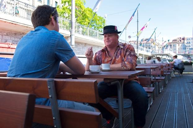À Lausanne, après son showcase à la Fnac, Mark Muleman Massey a également concédé une interview à leMultimedia.info. © Oreste Di Cristino / leMultimedia.info