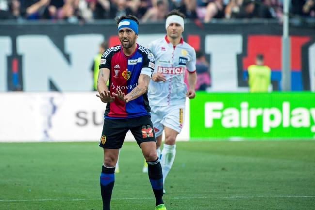 Matias Delgado a inscrit le but du 1-0 au Stade de Genève (46e). © Oreste Di Cristino / leMultimedia.info