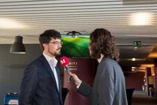 Adrien Martinoli à l'interview avec leMultimedia.info. © Oreste Di Cristino / leMultimedia.info