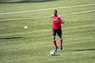 Gelson Fernandes à l'entraînement à Tórshavn. © Oreste Di Cristino / leMultimedia.info