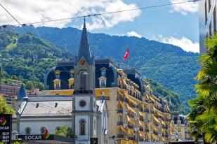 La ville de Montreux à l'aube de la 51e édition du Montreux Jazz Festival. © Oreste Di Cristino / leMultimedia.info