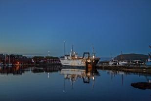 Le port de Tórshavn durnat les quelques heures de crépuscule. © Oreste Di Cristino / leMultimedia.info