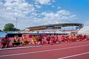 Les joueurs du FC Sion après leur victoire 1-0 face au FC Lausanne-Sport à la Pontaise dimanche après-midi. © Oreste Di Cristino / leMultimedia.info