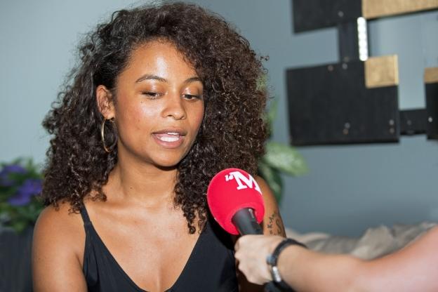 Danitsa à l'interview avec leMultimedia.info dans les backstages du Lisztomania. © Oreste Di Cristino / leMultimedia.info