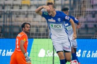 Joël Geissmann a marqué son premier but dès la première minute de jeu avec sa nouvelle équipe. © Oreste Di Cristino / leMultimedia.info