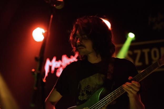 Elie Ghersinu, bassiste et chanteur des Magic & Naked au Lisztomania, le vendredi 30 juin. © Oreste Di Cristino / leMultimedia.info