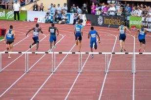 Kariem Hussein a amélioré sa marque personnelle sur 400 mètres haies cette saison. © Oreste Di Cristino / leMultimedia.info