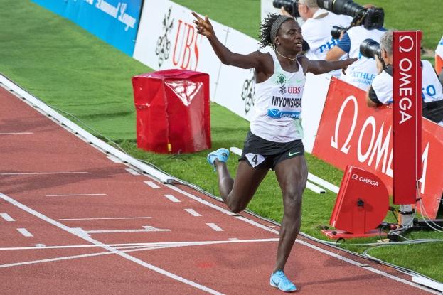 Francine Niyonsaba domine les 800 mètres à Lausanne. © Oreste Di Cristino / leMultimedia.info
