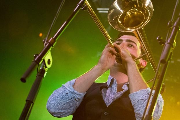 Sylvain Richard au trombone au 42e Paléo Festival Nyon. © Oreste Di Cristino / leMultimedia.info