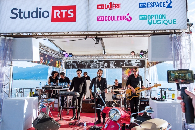 Cigarettes After Sex en showcase au Studio RTS au bord du Léman à Montreux. © Oreste Di Cristino / leMultimedia.info