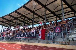 De nombreux supporters valaisans ont fait le déplacement jusqu'à Lausanne. © Oreste Di Cristino / leMultimedia.info