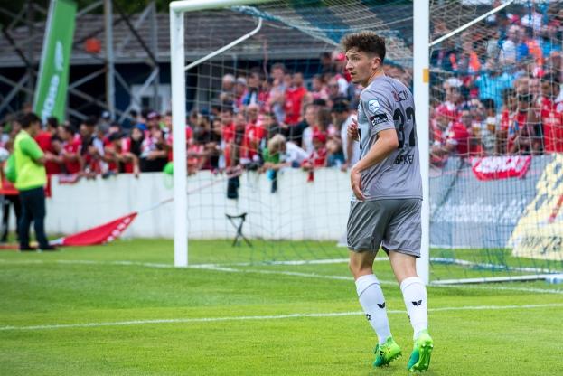 Linus Obexer, prêté par Young Boys, a joué ses premières minutes sous le maillot de Neuchâtel Xamax FCS à l'occasion de la 53e Coupe horlogère. © Oreste Di Cristino / leMultimedia.info