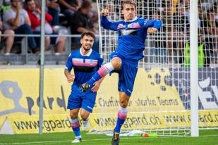 À la 57e minute, la tête de Marc Muniesa égalise à 2-2 contre les Young Boys. © Oreste Di Cristino / leMultimedia.info