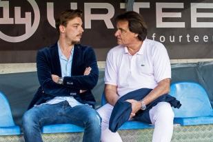 Barthélémy et Christian Constantin à l'heure de vérité au Stade de Genève. © Oreste Di Cristino / leMultimedia.info