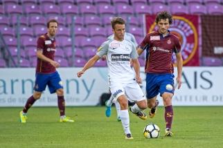 Miroslav Stevanovic a forcé de son talent pour percer sur son couloir droit. © Oreste Di Cristino / leMultimedia.info