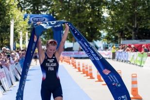 Jessica Fullagar (FRA) a creusé l'écart à la course pour s'imposer à Ouchy. © Oreste Di Cristino / leMultimedia.info