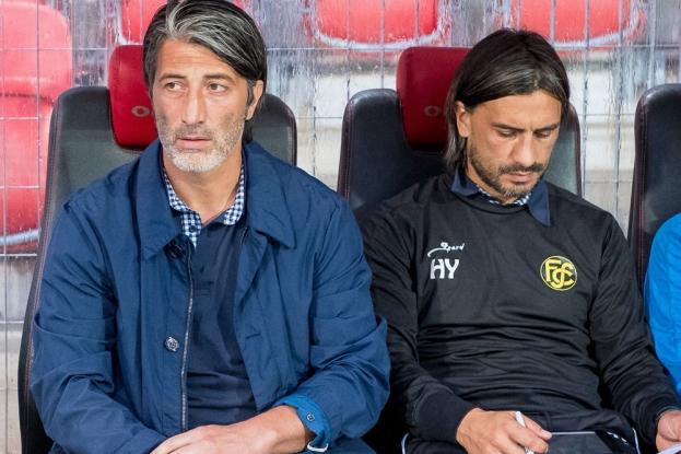 Les frères Yakin. Murat, à gauche, n'a pas encore perdu de point avec son FC Schaffhouse depuis le début de la saison. © Oreste Di Cristino / leMultimedia.info