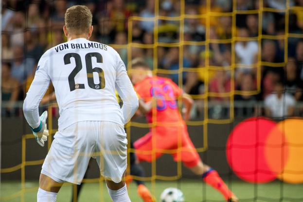 David von Ballmoos n'a que très peu été inquiété mardi soir au Stade de Suisse. © Oreste Di Cristino / leMultimedia.info
