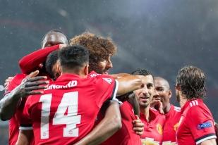Manchester United... unis dans la victoire. © Oreste Di Cristino / leMultimedia.info