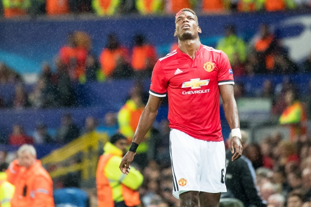 Paul Pogba a été contraint de sortir sur blessure après un accrochage avec Mohamed Elyounoussi. © Oreste Di Cristino / leMultimedia.info