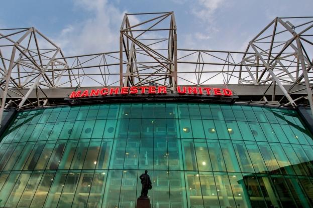 La devanture de l'Old Trafford Park. © Oreste Di Cristino / leMultimedia.info
