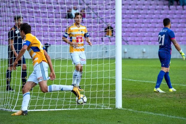 Shkelqim Demhasaj a offert au FC Lucerne la qualification en huitièmes de finale de la Coupe de Suisse grâce à son but à la 61e minute. © Oreste Di Cristino / leMultimedia.info